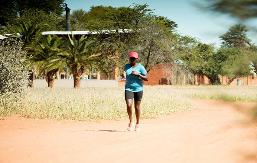 Trail running in the Kalahari