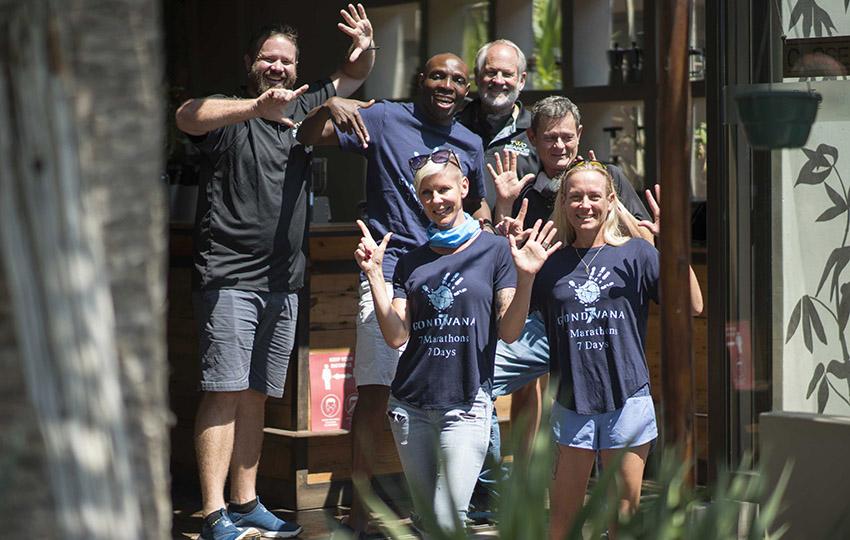 Trail running team Namibia
